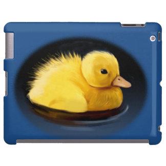 Polluelo del pato del pato silvestre en la charca funda para iPad
