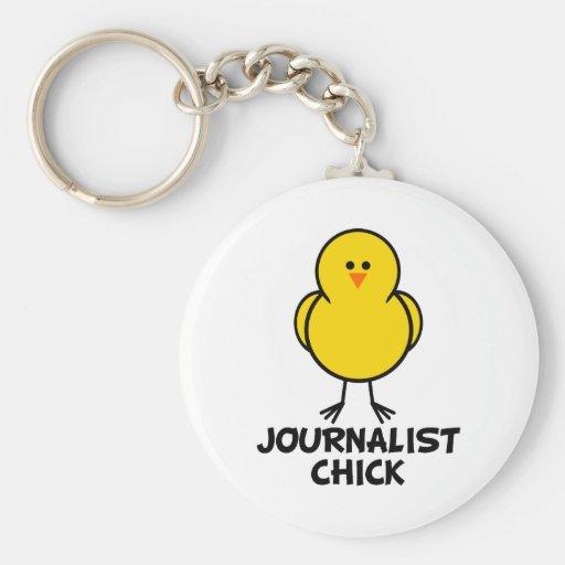 Polluelo del periodista llaveros