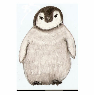 polluelo del pingüino fotoescultura vertical