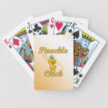 Polluelo del Pinochle Cartas De Juego