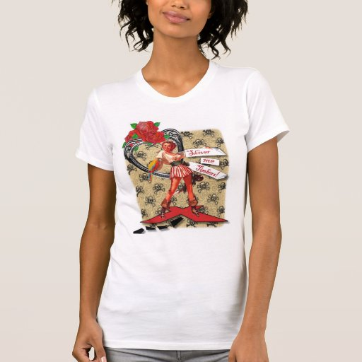 Polluelo del pirata camiseta