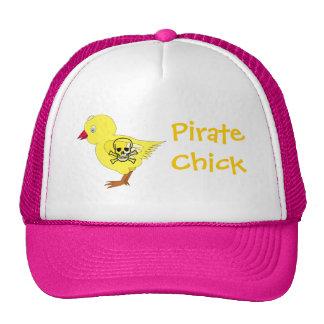 Polluelo del pirata gorras de camionero