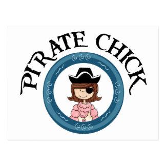 Polluelo del pirata postales