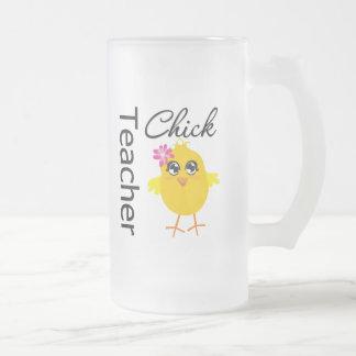 Polluelo del profesor taza cristal mate