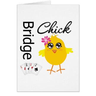 Polluelo del puente tarjeta