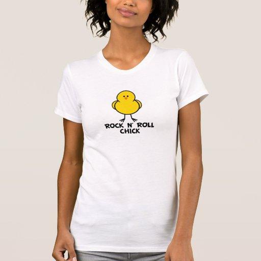 Polluelo del rollo de N de la roca Camisetas