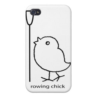 Polluelo del Rowing, ropa del rowing para las muje iPhone 4 Carcasa