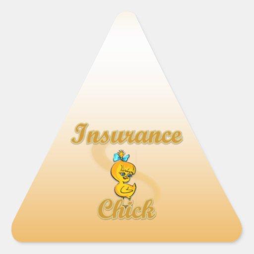 Polluelo del seguro pegatina triangulo personalizadas