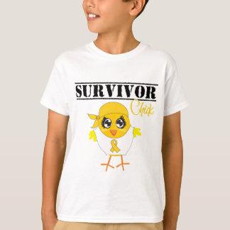 Polluelo del superviviente del cáncer de la niñez playera