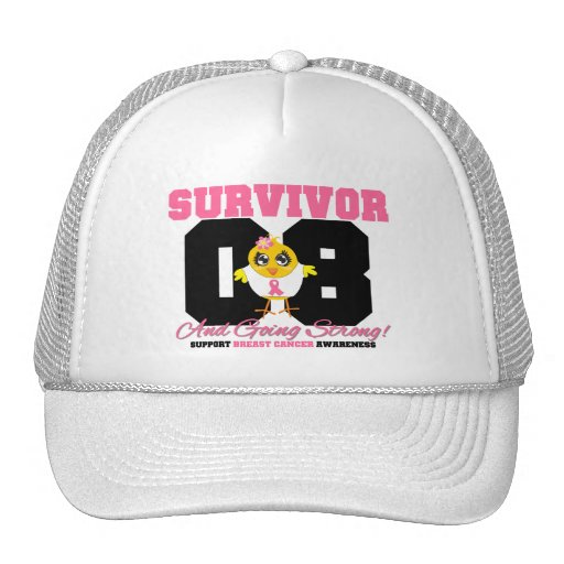 Polluelo del superviviente del cáncer de pecho 08  gorra