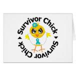 Polluelo del superviviente del cáncer ovárico tarjeta