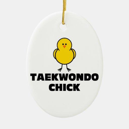 Polluelo del Taekwondo Adornos De Navidad