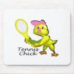 Polluelo del tenis tapete de ratones
