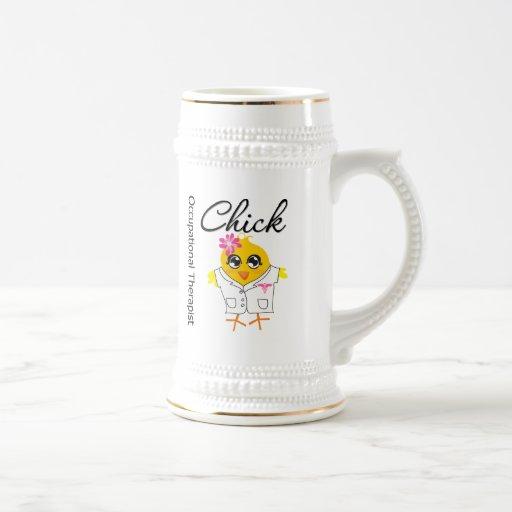 Polluelo del terapeuta profesional tazas de café