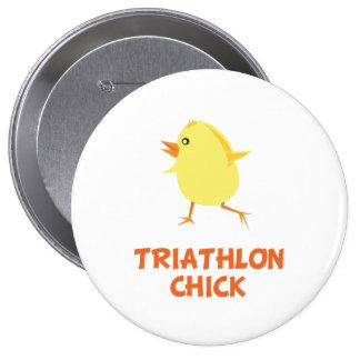 Polluelo del Triathlon Pin Redondo 10 Cm