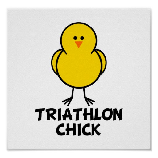 Polluelo del Triathlon Póster