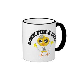 Polluelo del tumor cerebral para una curación tazas de café
