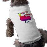 Polluelo del vegano camisa de perro