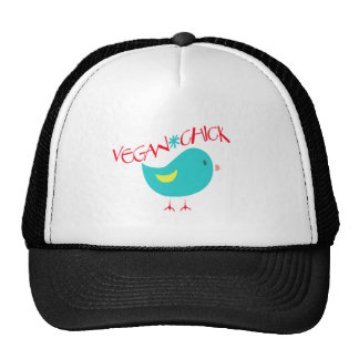 Polluelo del vegano gorros bordados