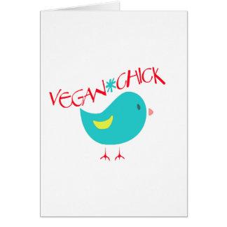 Polluelo del vegano tarjeta de felicitación