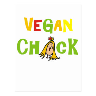 Polluelo del vegano postales