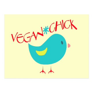 Polluelo del vegano tarjeta postal