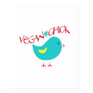 Polluelo del vegano tarjetas postales