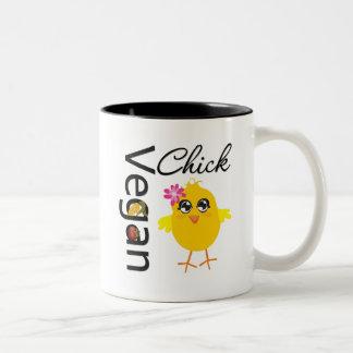 Polluelo del vegano taza de dos tonos