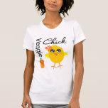 Polluelo del Veggie Camisetas