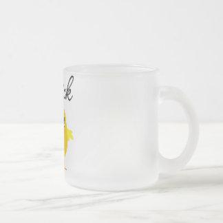 Polluelo del vendedor de los expedientes tazas de café