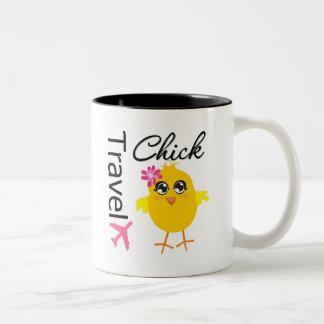 Polluelo del viaje tazas de café