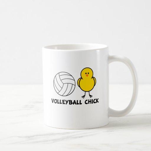 Polluelo del voleibol tazas de café