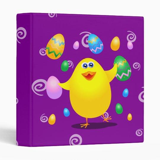 Polluelo divertido de Pascua, carpeta