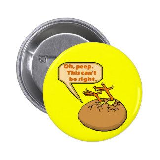 Polluelo divertido de Pascua en huevo Pin Redondo 5 Cm