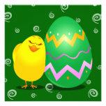 Polluelo divertido de Pascua, invitación