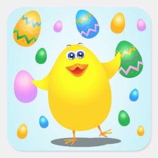 Polluelo divertido de Pascua, pegatina