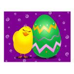 Polluelo divertido de Pascua, postal