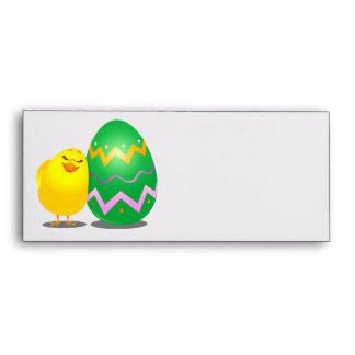 Polluelo divertido de Pascua sobre