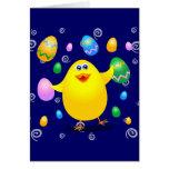 Polluelo divertido de Pascua, tarjeta