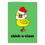 Polluelo divertido del navidad felicitación