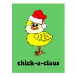 Polluelo divertido del navidad postal