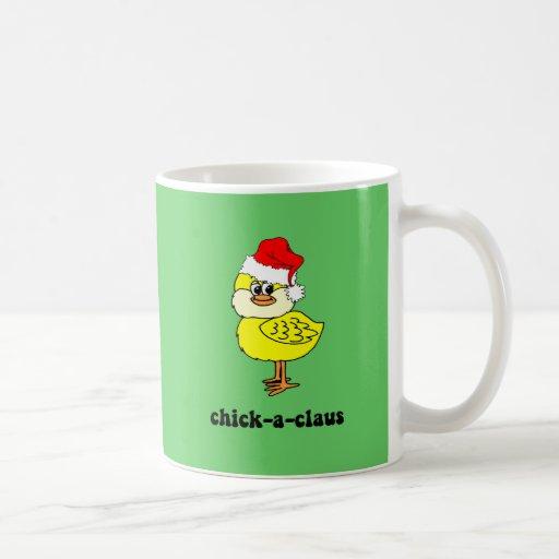 Polluelo divertido del navidad taza de café