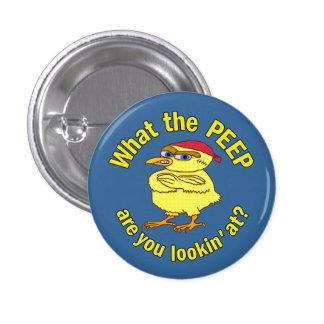 Polluelo duro divertido de Pascua pequeño Pin Redondo 2,5 Cm