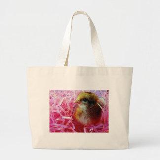 Polluelo en copa de vino bolsa lienzo