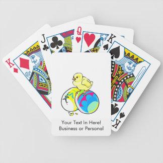 polluelo en dos huevos de Pascua coloreados Baraja Cartas De Poker