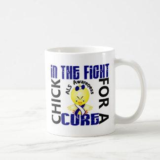 Polluelo en el ALS de la lucha Taza De Café