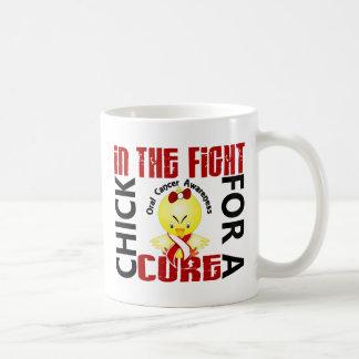 Polluelo en el cáncer oral de la lucha tazas