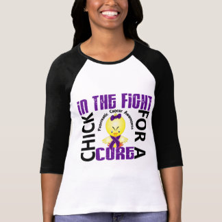 Polluelo en el cáncer pancreático de la lucha camiseta