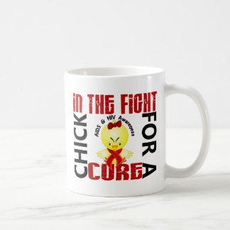 Polluelo en el SIDA de la lucha Taza De Café