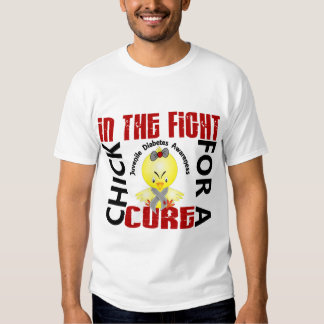 Polluelo en la diabetes juvenil de la lucha playeras